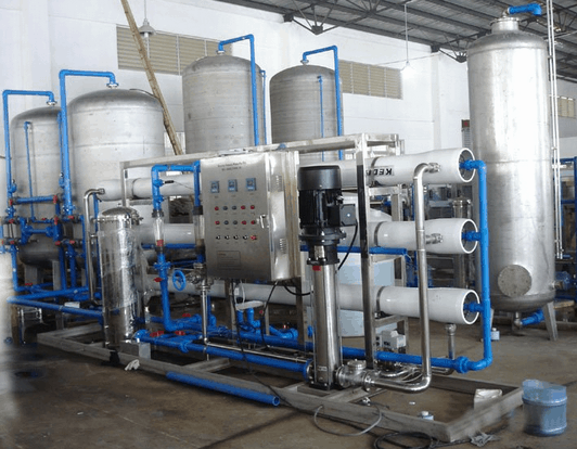 cost of water plant machinery